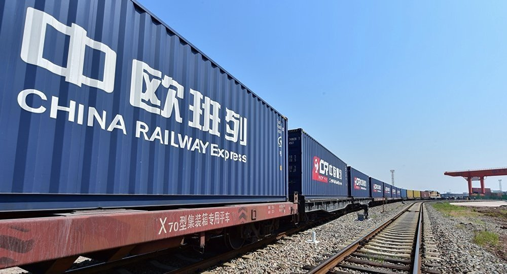 Containers named as China Railway Express