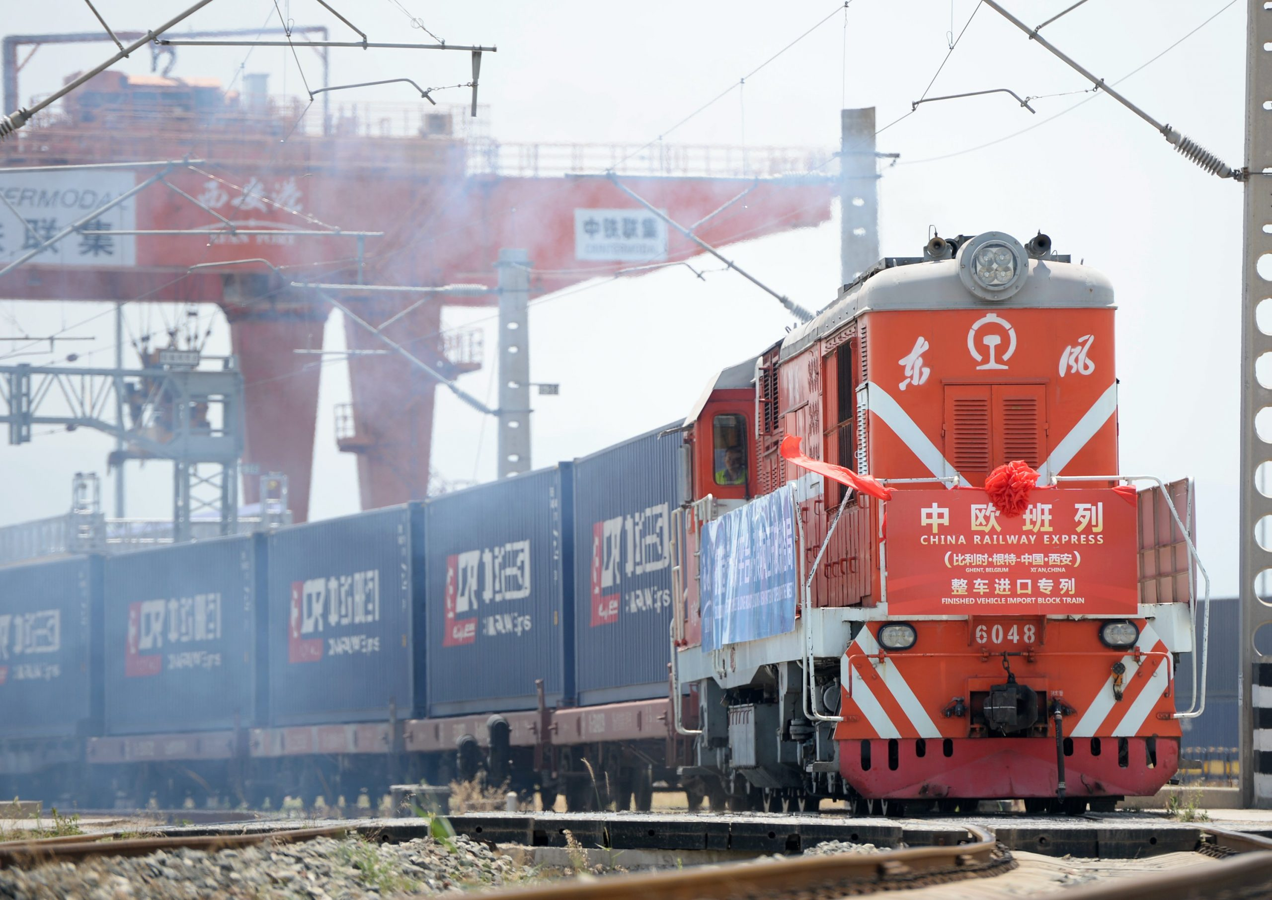 Record number of Xi'an to Europe rail freight services help meet COVID-19 demand