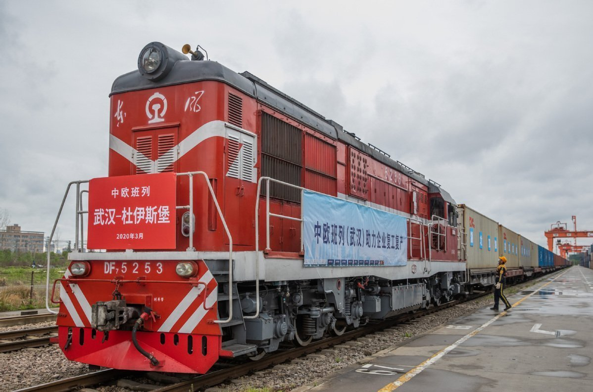 China-Europe freight trains pick up steam amid pandemic