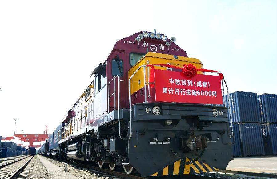 Chengdu sees 6,000 trips by China-Europe freight trains