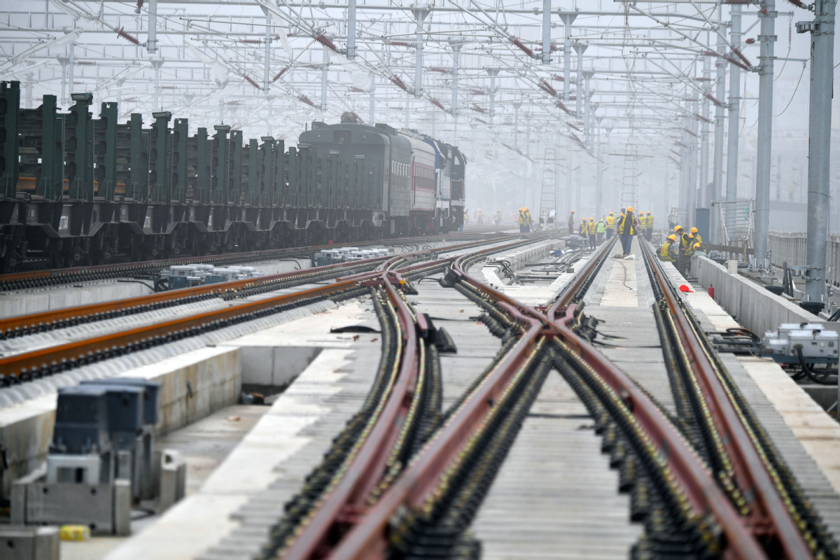 Beijing-Xiong'an high-speed railway marks new milestone