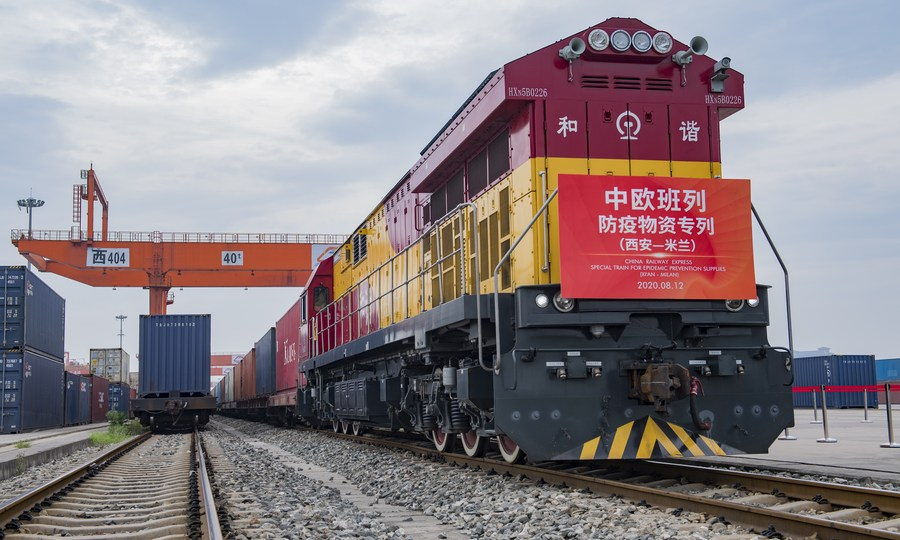Xi'an sees China-Europe freight trains nearly double in Jan-Nov