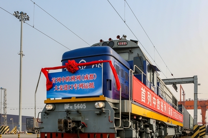 China-Europe freight train brings Russian barley to China
