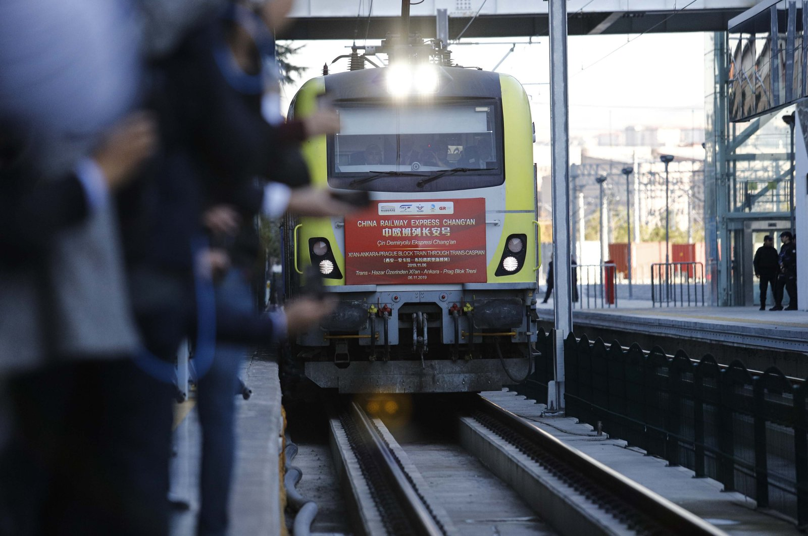 1st export train to leave Turkey en route to China