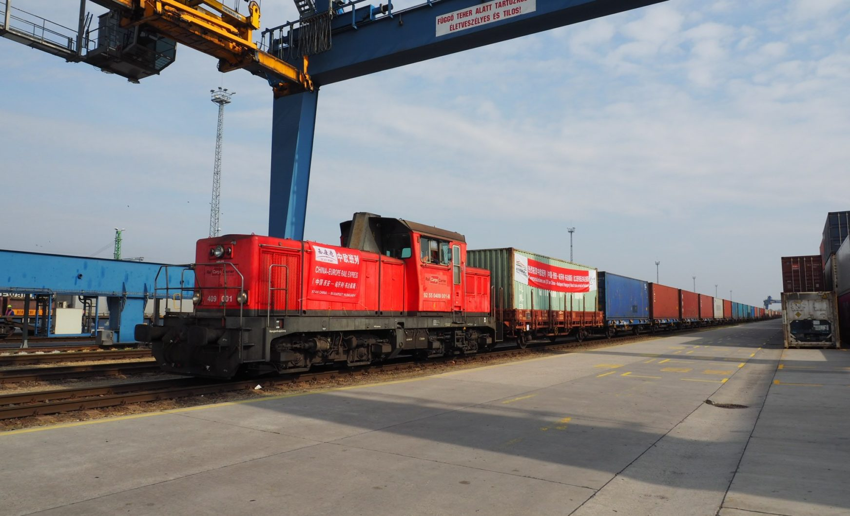 Tenfold Increase in Chinese rail freight traffic at Záhony