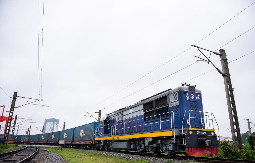 China Europe freight train leaves Changsha to Minsk on May 22, 2021