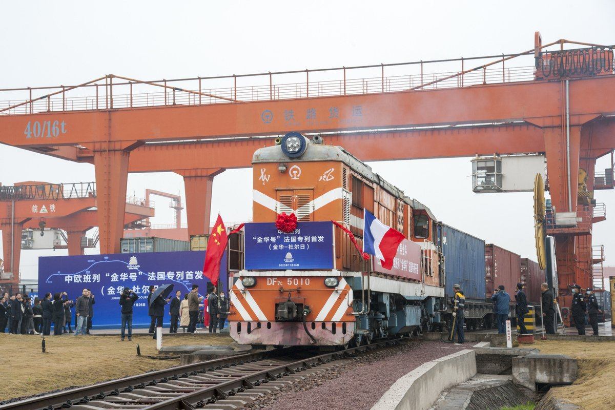 China-Europe freight train(Jinhua) adds new route to Budapest in Hungary