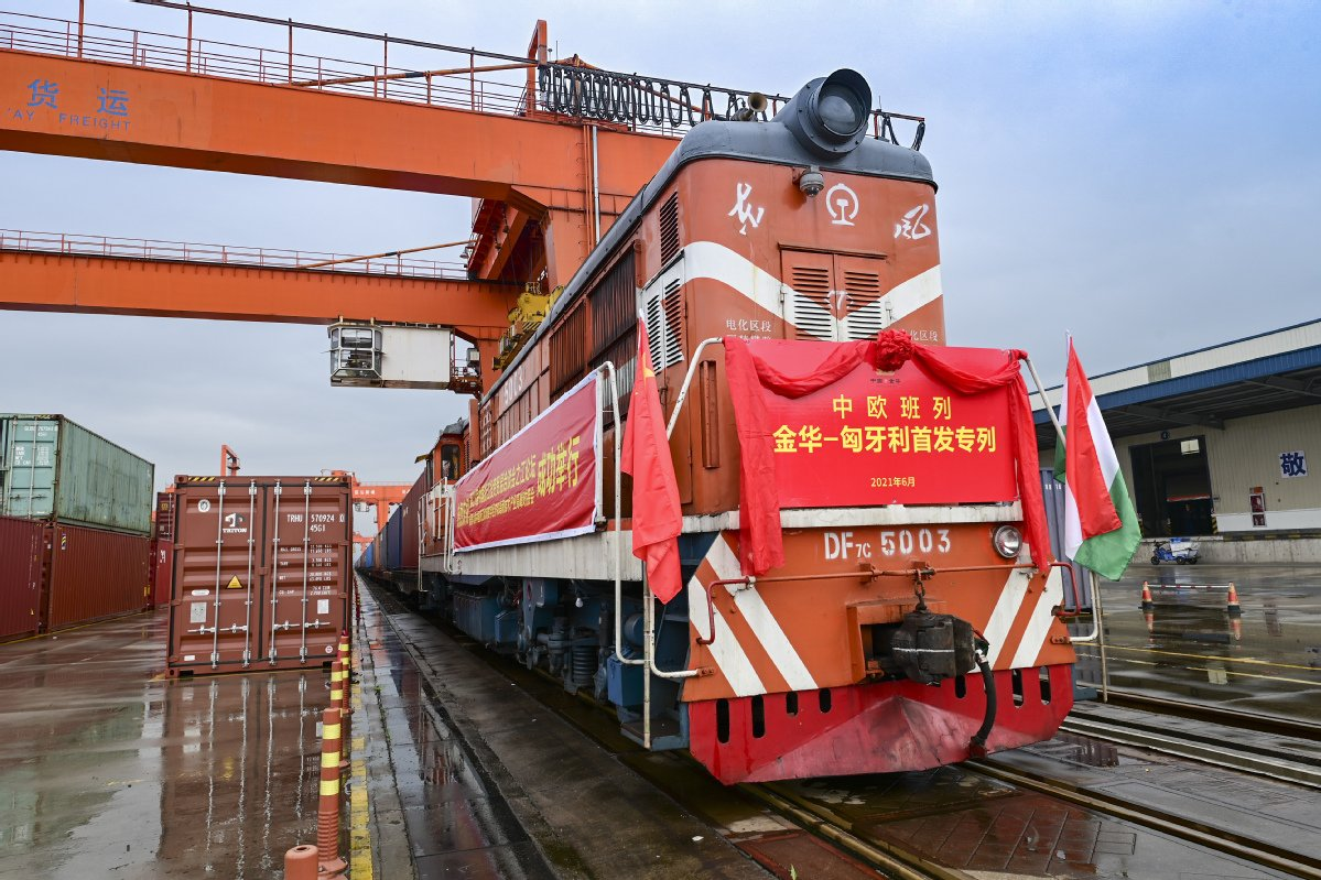 China's Zhejiang sees surging imports via China-Europe freight trains