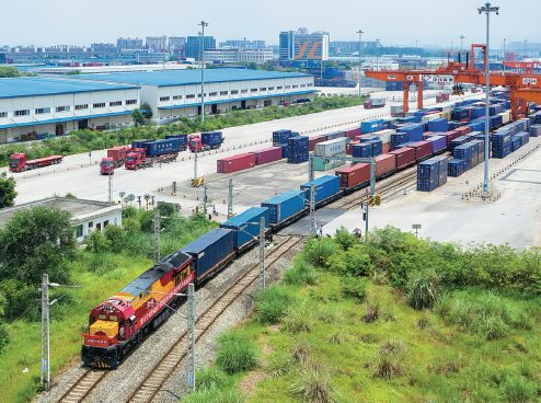 The rapid development of China-Europe freight trains(Chengdu) drives regional foreign trade