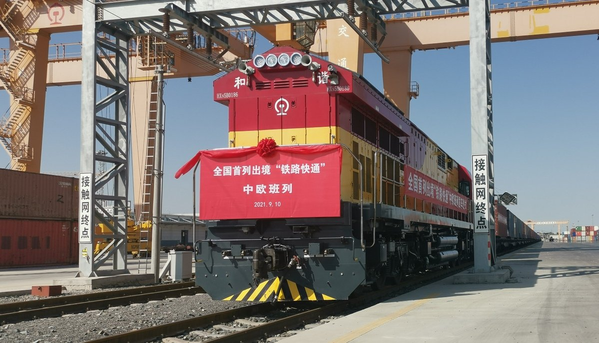 """""""Each freight train to Europe can save around two or three hours when passing the port"""""""
