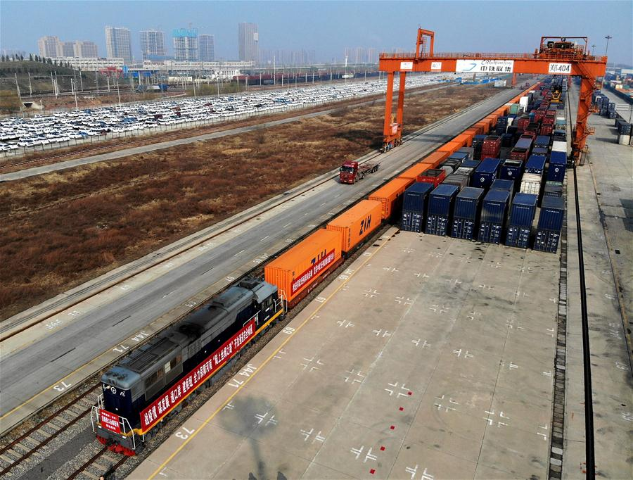 Central China city sends 3,000th Eurasian freight train