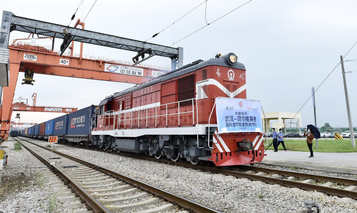 Freight train carrying epidemic gear left Wuhan for Belgrade