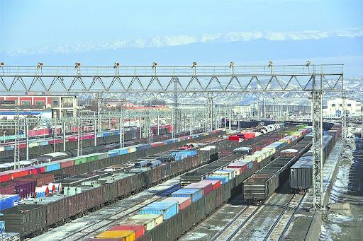 Chinese Alashankou Pass sees rising China-Europe freight trains