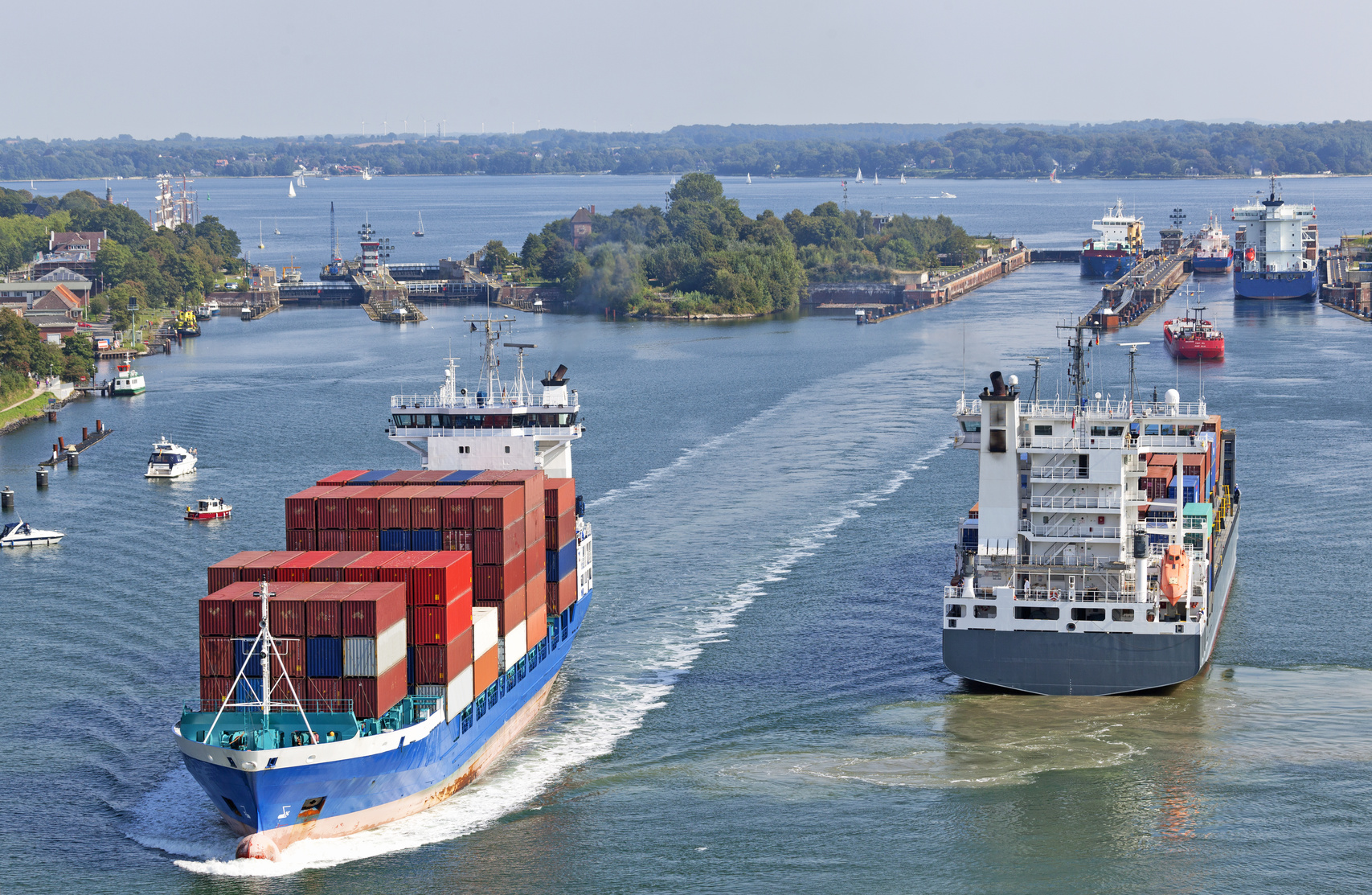 German government: support the Kiel Canal with millions of dollars