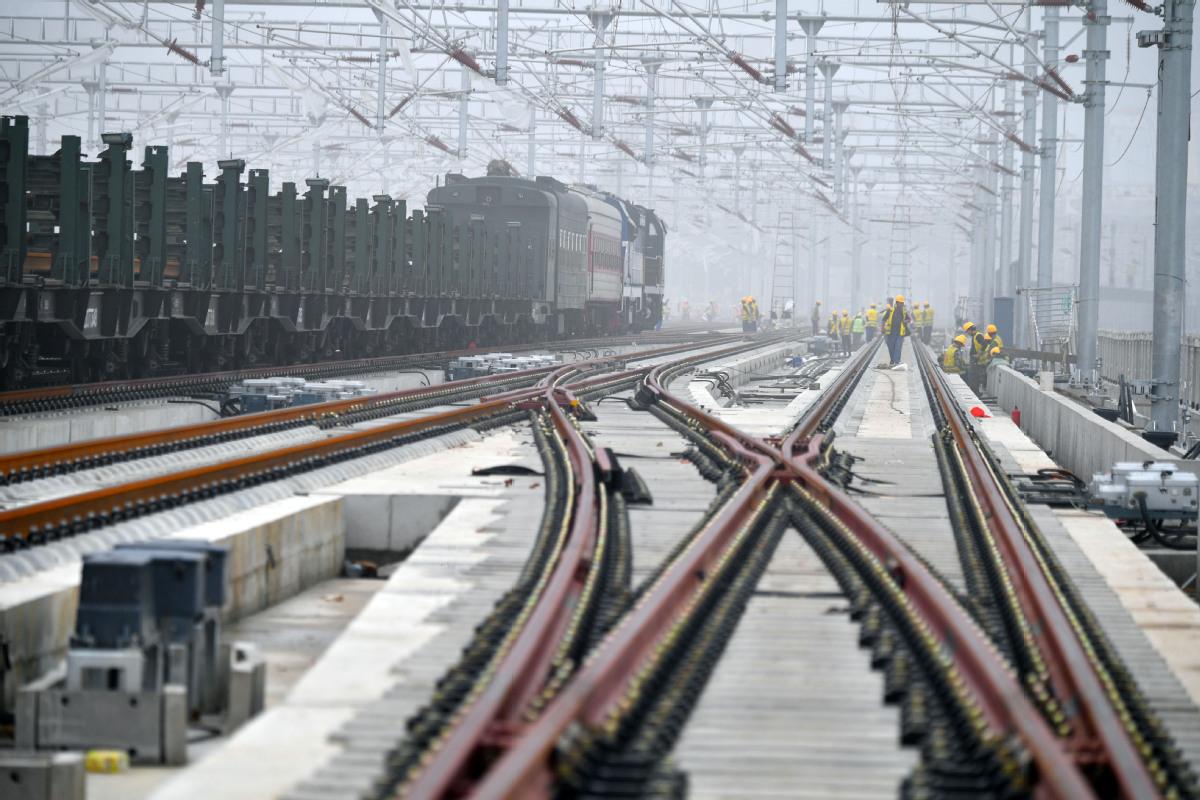 Beijing-Xiong'an high-speed railway marks new milestone
