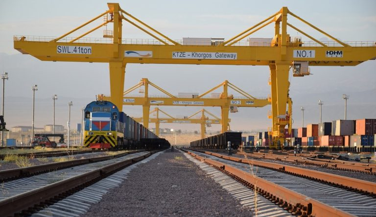 Khorgos Xinjiang Freight train