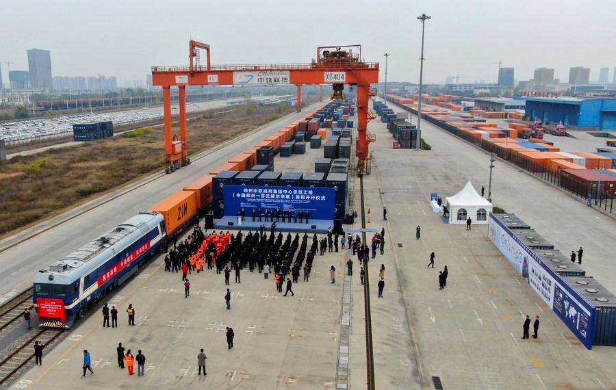China's Zhengzhou launches freight train service to Finland