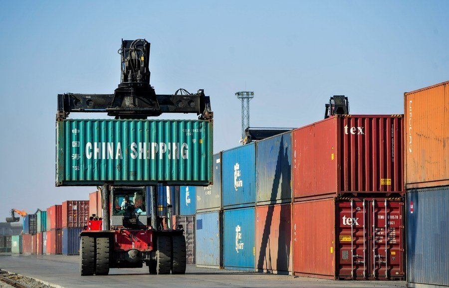 China port handles over 200,000 TEUs via China-Europe freight trains since 2014