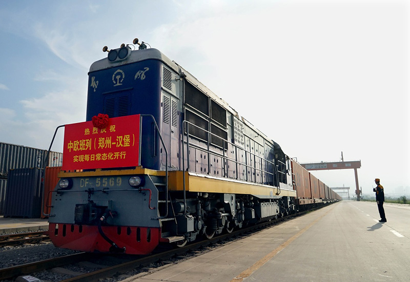 China-Europe Freight train service continues to grow via central China city