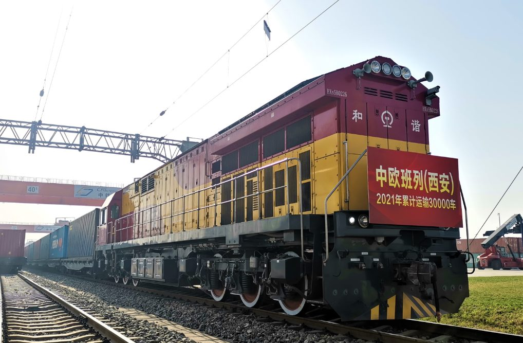 In 2021, the total number of containers transported by freight trains in Xi'an reached 30,049
