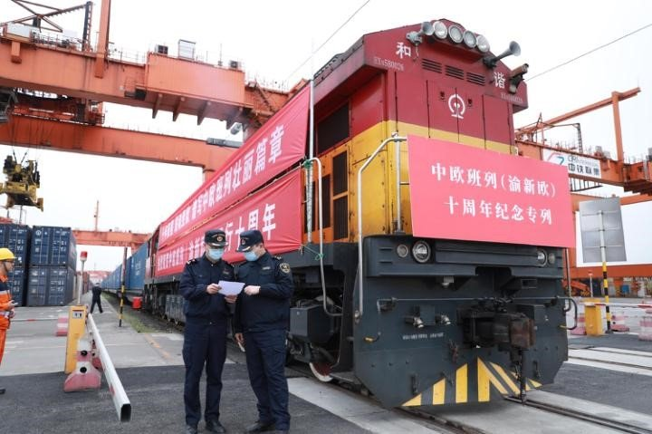 China-Europe freight train (Yuxinou) hub tops 1,000 global parcel containers