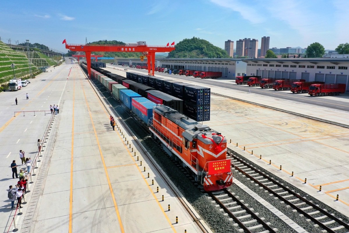 Dulaying international land-sea logistics port becomes operational in China's Guizhou